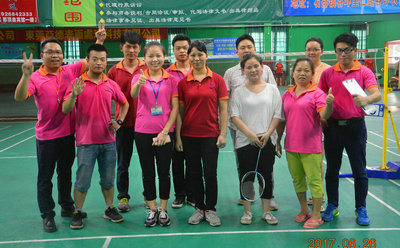 Badminton competition videos in KangFeng 2017