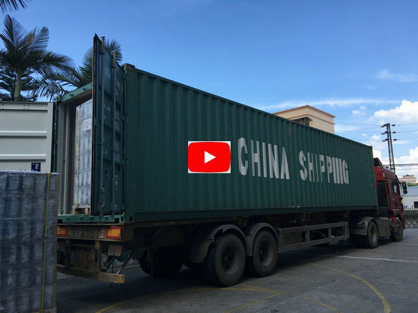 Loading container for shipping